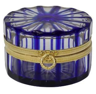 MARTIN BENITO ORMOLU-MOUNTED GLASS DRESSER BOX