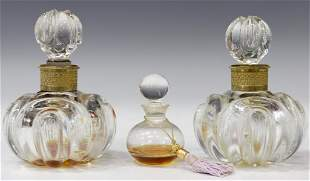 (3) CRYSTAL PERFUME SCENT BOTTLES, BACCARAT