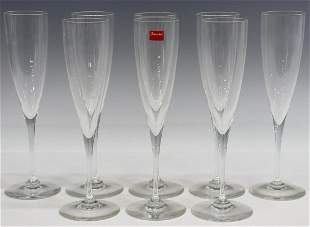 (8) BACCARAT DOM PERIGNON CRYSTAL CHAMPAGNE FLUTES