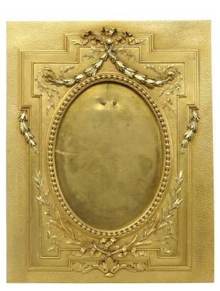 FRENCH BRONZE DORE EASEL-BACK PICTURE FRAME