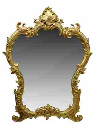 FRENCH ROCOCO BRONZE DORE DRESSING TABLE MIRROR
