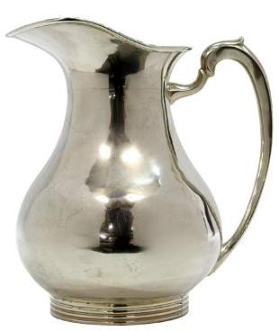 C. ZURITA MEXICO MODERNIST STERLING WATER PITCHER