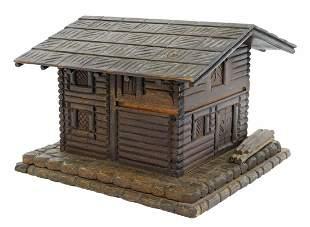BLACK FOREST CARVED WOOD COTTAGE-FORM TABLE BOX