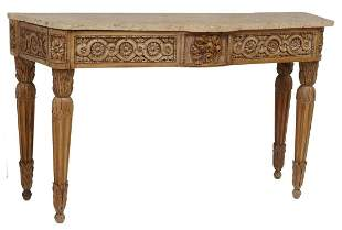 ITALIAN NEOCLASSICAL MARBLE-TOP CONSOLE TABLE