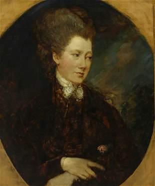 PORTRAIT OF GEORGIANA SPENCER AFTER GAINSBOROUGH