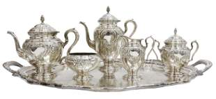 (6) LORD SAYBROOK STERLING TEA & COFFEE, EPNS TRAY