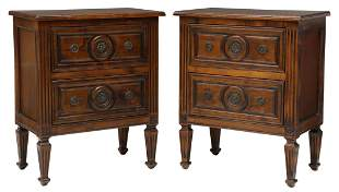 (2) ITALIAN NEOCLASSICAL STYLE BEDSIDE TABLES