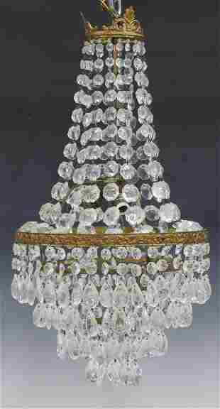 EMPIRE STYLE CRYSTAL THREE-LIGHT CHANDELIER