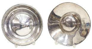 (2) FRENCH & ENGLISH SILVER DRINKING VESSEL HANAP
