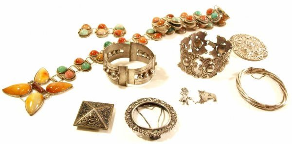 MEXICO SILVER & GEMSTONE JEWELRY & STERLING PIECES