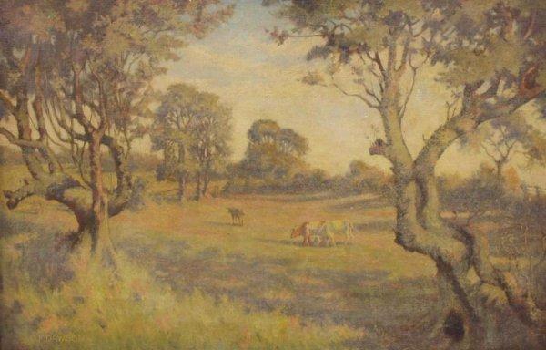 COW PAINTING, C.F. DAWSON (ENGLAND, 1863-1944)