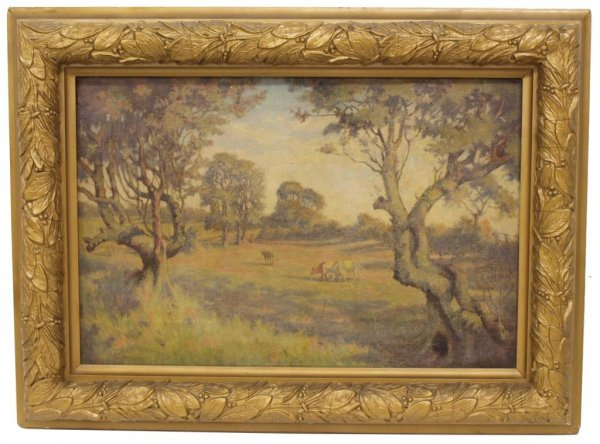 COW PAINTING, C.F. DAWSON (ENGLAND, 1863-1944) - 2