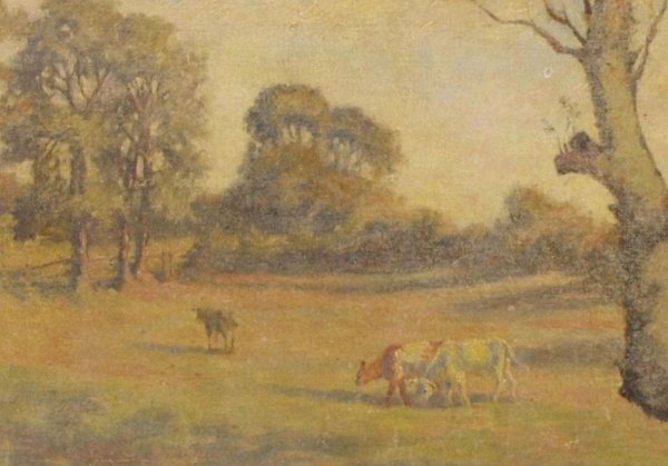 COW PAINTING, C.F. DAWSON (ENGLAND, 1863-1944) - 3