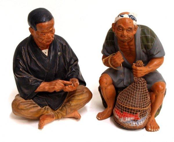 JAPANESE HAKATA URASAKI DOLL FIGURES, FISHERMAN