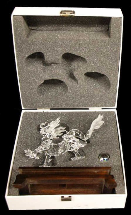 SWAROVSKI CRYSTAL DRAGON FIGURE WITH STAND