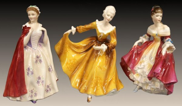 ROYAL DOULTON FIGURES, BESS, SOUTHERN BELL,KRISTY