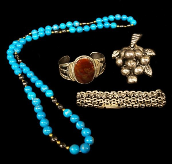 COLLECTION STERLING,STONE & MEXICAN SILVER JEWELRY