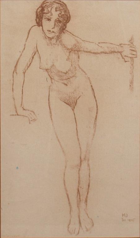 NUDE DRAWING, MAYNARD DIXON (1875-1946)