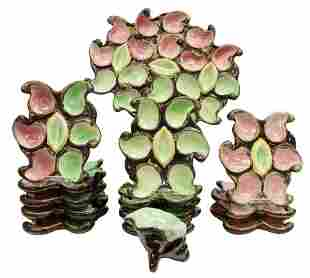 (14) FRENCH FAIENCE OYSTER SERVICE