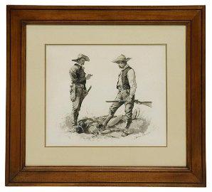 FREDERIC REMINGTON (1861-1909) ORIGINAL DRAWING