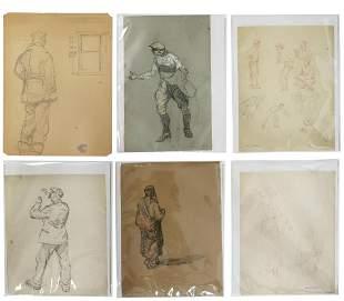 (11) HENRY JAMES SOULEN (1888-1965) STUDY SKETCHES