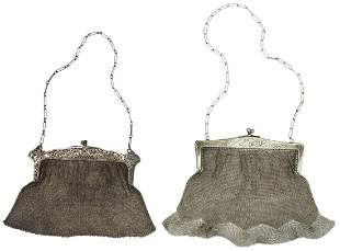 (2) VINTAGE LADIES' MESH EVENING BAGS PURSES