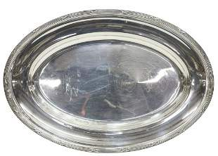 """FRENCH CHRISTOFLE SILVER PLATE 17"""" OVAL TRAY"""