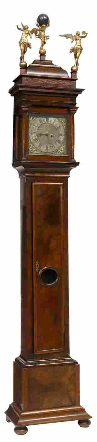 DUTCH BURLWOOD LONGCASE CLOCK, 18TH/ 19TH C.