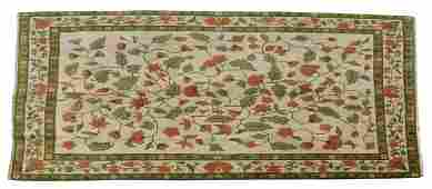 """HAND-TIED CHINESE FLORAL RUG, 11'9"""" X 8'8"""""""