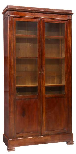 FRENCH LOUIS PHILIPPE PERIOD MAHOGANY BOOKCASE