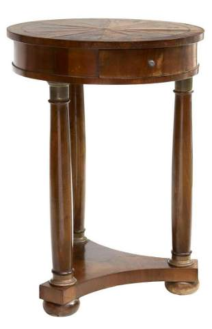 FRENCH EMPIRE STYLE GUERIDON SIDE TABLE STAND