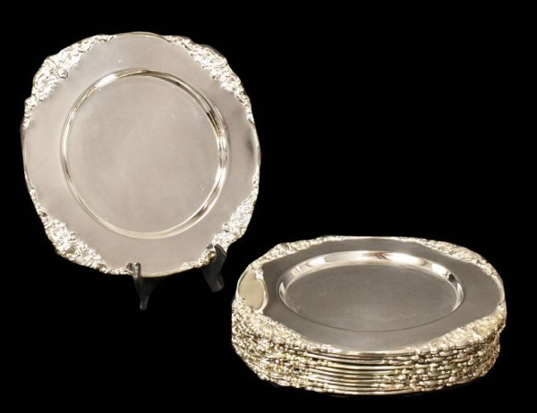 (12) GODINGER SILVER ART CO. DECORATIVE CHARGERS