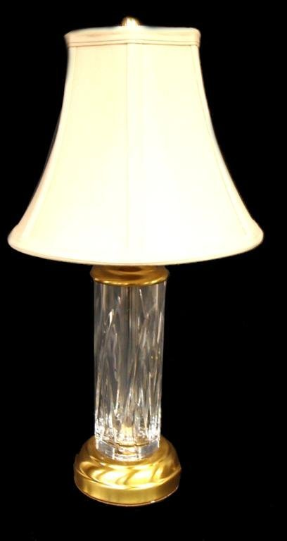 NEW WATERFORD CUT CRYSTAL LUCERNE TABLE LAMP