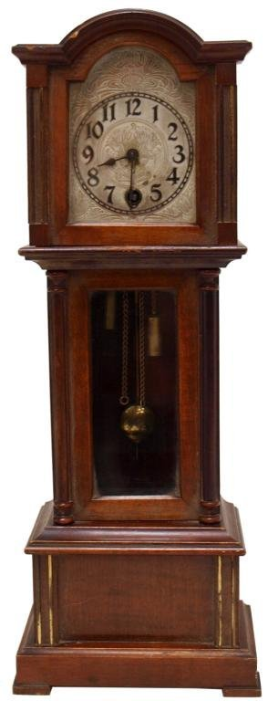 MINIATURE ENGLISH GRANDFATHER CLOCK