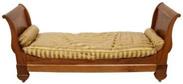 FINE FRENCH EMPIRE REVIVAL MAHOGANY DAY BED