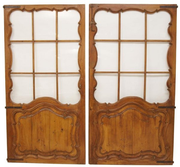 (PAIR) LARGE, EARLY REFURBISHED FRENCH DOORS