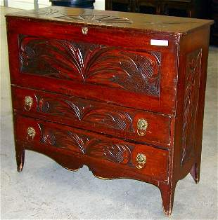 CARVED LIFT-TOP CHEST W/DRAWERS DRAWERS HA