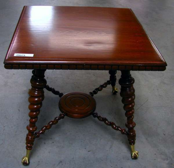 AMERICAN PARLOR TABLE W/ BRASS CLAW & WOOD