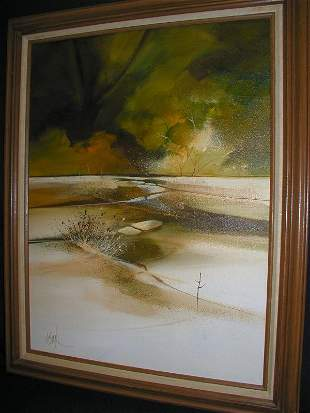 """JERRY SEAGLE PAINTING 18X24 """"Lands Growth"""