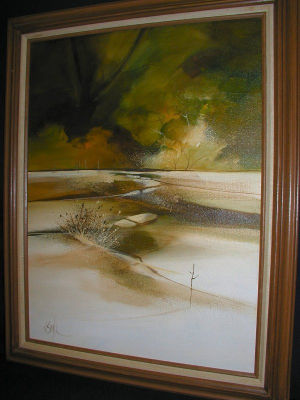 """17: JERRY SEAGLE PAINTING 18X24 """"Lands Growth"""