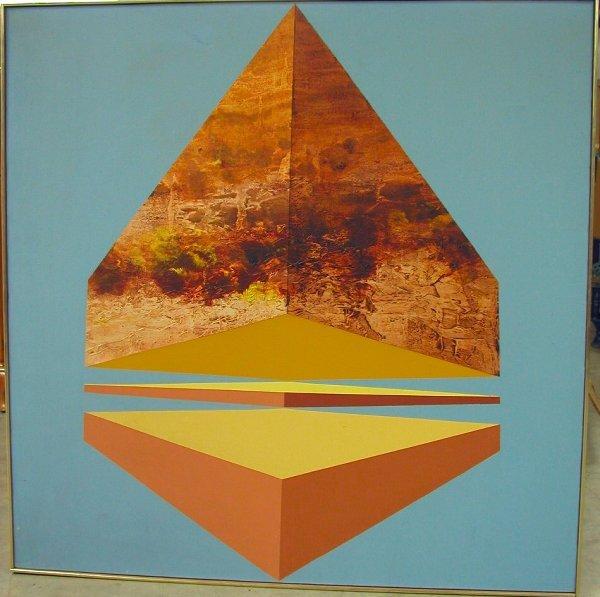 "18: James Twitty 48""x48"" oil on canvas."