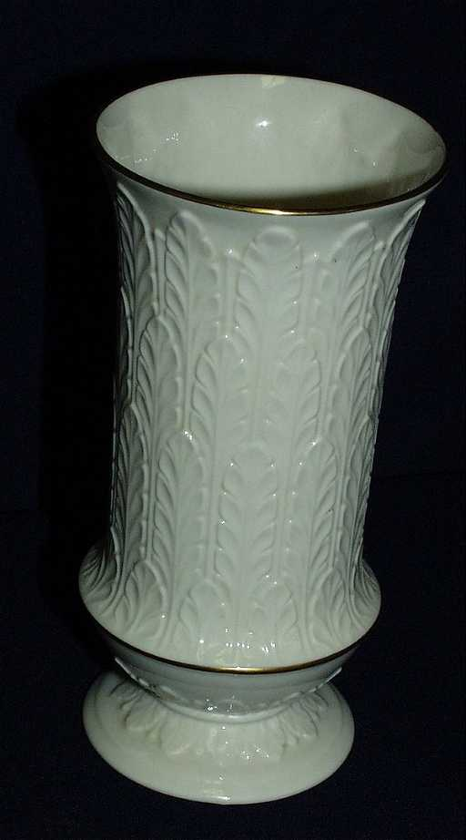 55 Lenox White Autumn Leaf Vase Gold Trim
