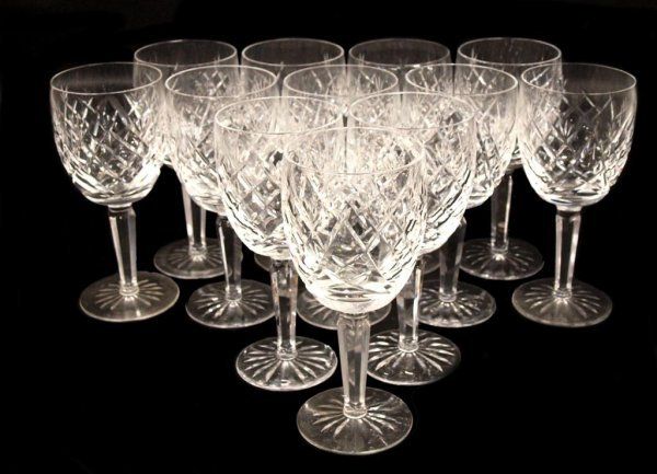 7: (12) WATERFORD CUT CRYSTAL GOBLETS