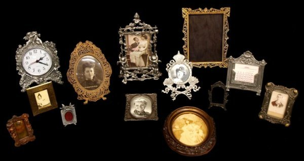 14: OLD PHOTO & PICTURE FRAME GROUP, DURGIN STERLING