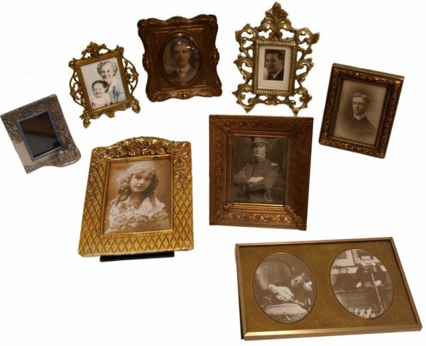 16: ANTIQUE & MODERN PICTURE FRAMES, OLD PHOTOS