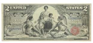 U.S. $2 SILVER CERTIFICATE 1896 EDUCATIONAL SERIES