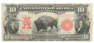 U.S. SERIES OF 1901 BUFFALO $10 NOTE