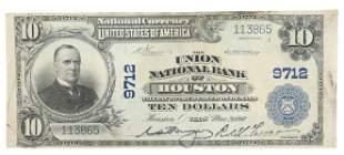 U.S 1902 NATIONAL CURRENCY, McKINLEY, $10, HOUSTON