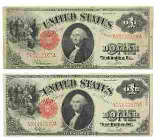 (2) U.S. $1 CURRENCY, SERIES OF 1917