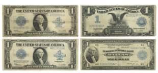 (4) U.S. $1 CURRENCY, SERIES 1899, 1918, 1923